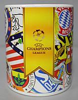 Чашка чайная футбольная с изображением символики Лиги Чемпионов