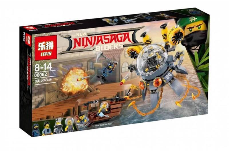 """Конструктор Ninjago Movie Lepin 06062 (аналог Lego 70610) """"Летающая подводная лодка"""" 368 деталей"""