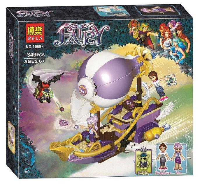 Конструктор Bela Fairy 10696 аналог Lego Elves 41184 Погоня за амулетом, 349 деталей