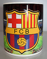 Чашка чайная футбольная с изображением символики FC Barcelona