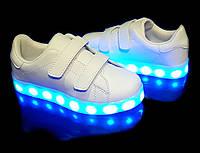 Кроссовки светящиеся детские White H2