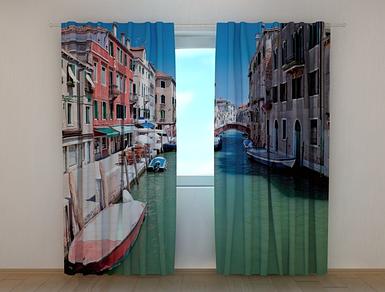 """Фотошторы """"Лодка"""" 250 х 260 см фото штори шторы с рисунком"""