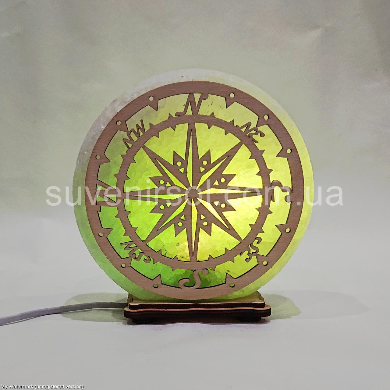 Соляной светильник круглый Компас