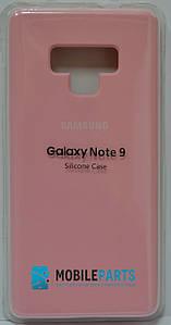Оригинальный Силиконовый Чехол для Samsung Galaxy Note 9 Silicone Case (Розовый)