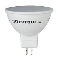 Светодиодная лампа LED 5Вт, GU5.3, 5Вт, 220В, INTERTOOL LL-0202, фото 1