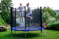 Батут Польский FunFit 252см c сеткой + лестница, фото 1