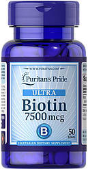 Витамины Puritan's Pride Biotin 7500 mcg 100 tabs