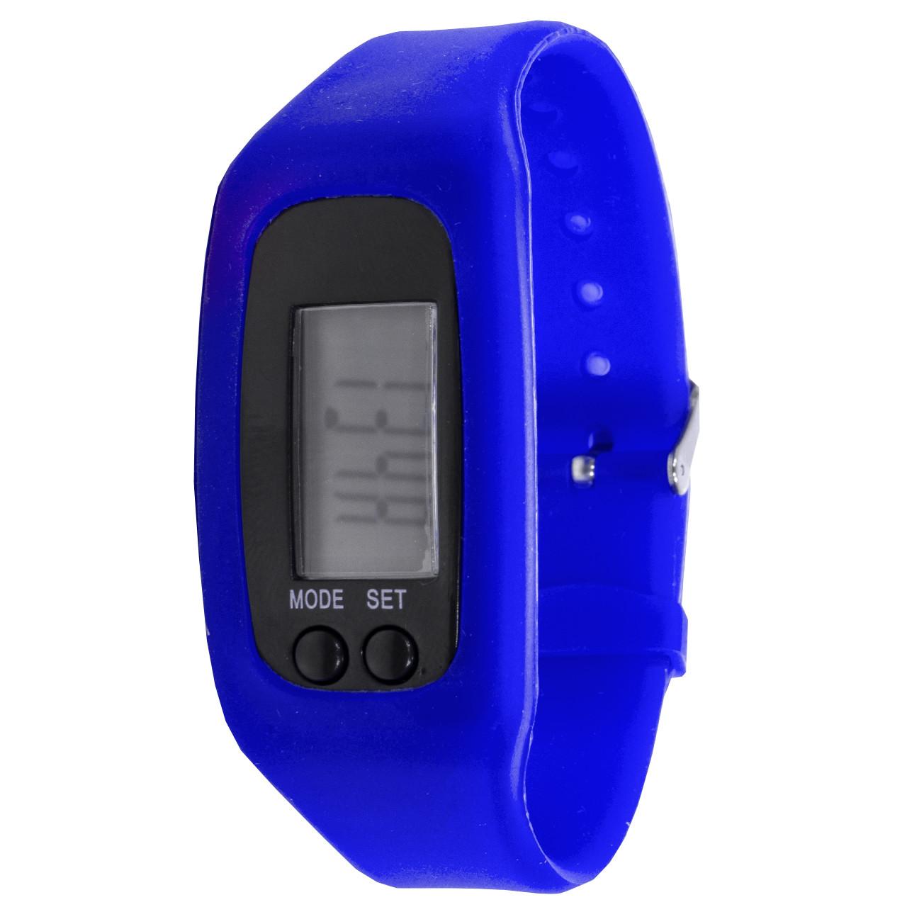"""ϞЧасы Lesko LED SKL Blue для активного образа жизни дисплей 1"""" силиконовый ремешок шагомер"""