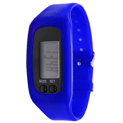 """ϞЧасы Lesko LED SKL Blue для активного образа жизни дисплей 1"""" силиконовый ремешок шагомер, фото 2"""