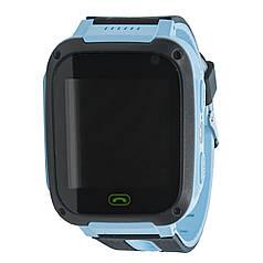 """★Смарт-часы UWatch M8 Blue диагональю 0.97"""" встроенный фонарь 400 мАч Sim кнопка SOS спортивные"""