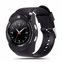 """ϞСмарт-часы UWatch V8 Black IPS 1.22"""" круглый дисплей батарея 280 мАч для спорта бега и тренировок Bluetooth"""