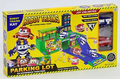 """Гараж ZY 641 """"Robot Trains"""" (2 машины)"""