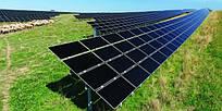 Система креплений на 110 панелей (30 кВт), 4 рядная оцинкованная на одной стойке.