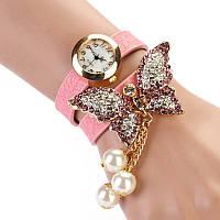 Часы браслет с бабочкой