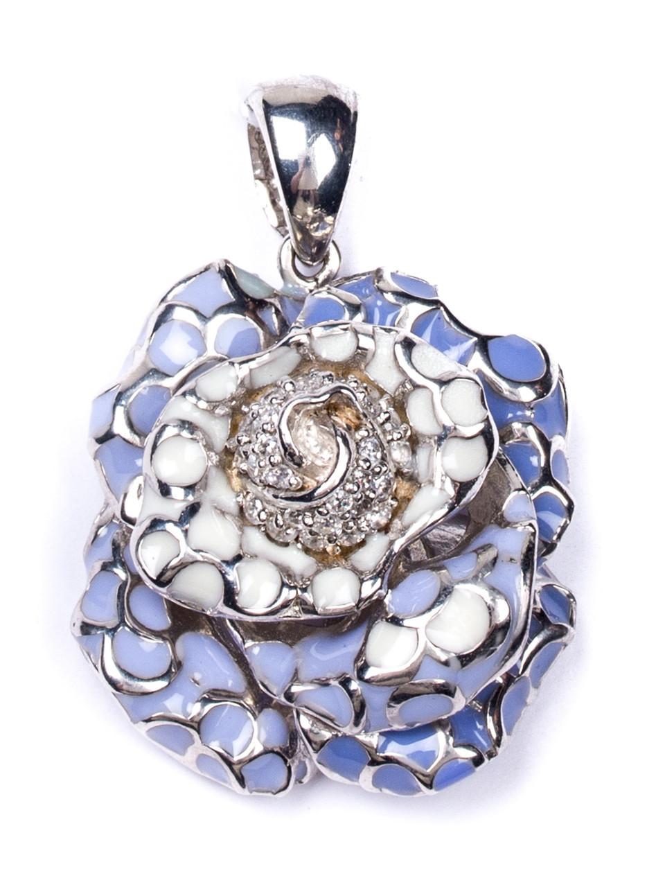 Подвеска серебряная с ювелирной эмалью