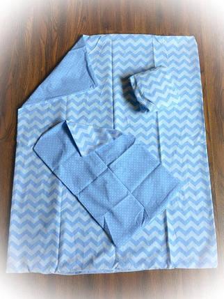 Детское сменное постельное бельё в кроватку ТМ Bonna Голубое, фото 2