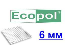 Сотовый поликарбонат Eco pol (Эко пол) для теплиц 6 мм 10 лет