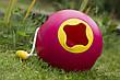 Сферичное ведро Quut Ballo розовое с желтым (170112), фото 3
