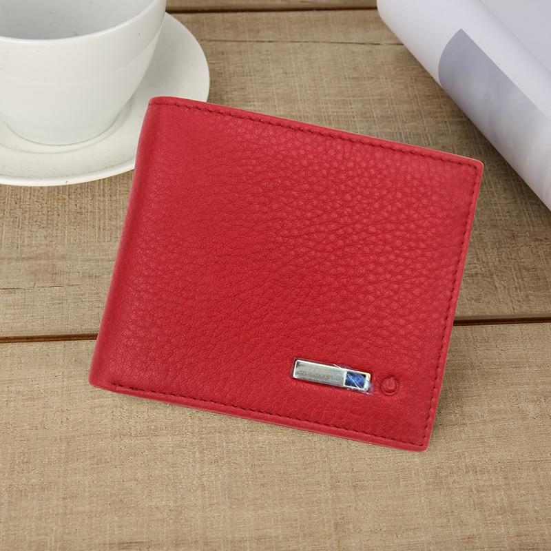 Розумний гаманець SUNROZ Smart LB Wallet із захистом від крадіжки та сканування RFID Червоний (SUN3542)
