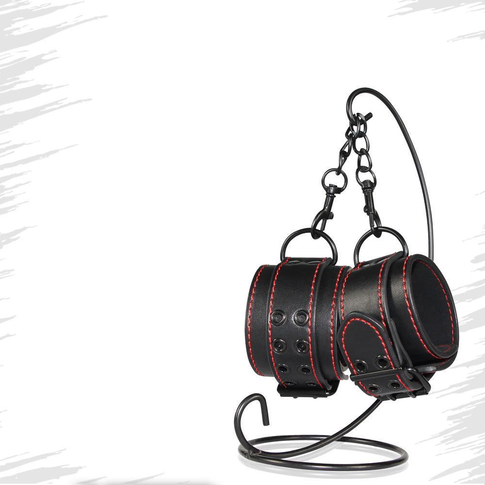 Кожанные наручники для ног Lovetoy