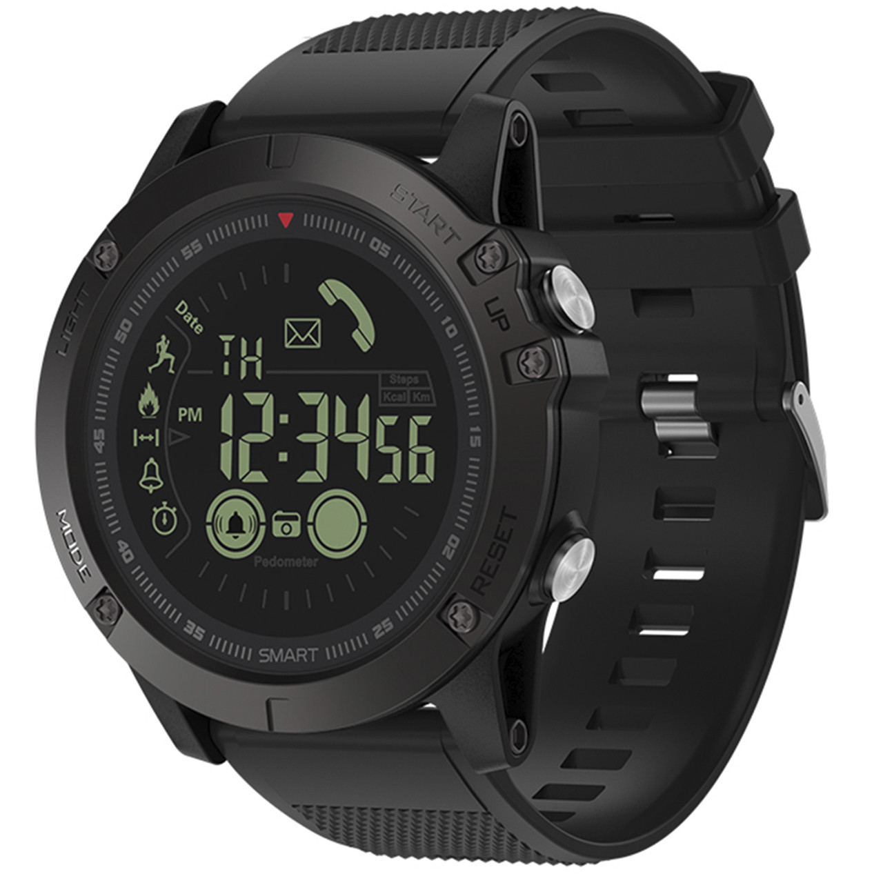 "✦Смарт-часы Zeblaze VIBE 3 Black OLED 1.24"" стальной корпус Bluetooth 4.0 батарея 610мАч Android 4.3 IP67"