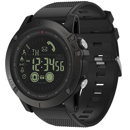 "✦Смарт-часы Zeblaze VIBE 3 Black OLED 1.24"" стальной корпус Bluetooth 4.0 батарея 610мАч Android 4.3 IP67, фото 2"
