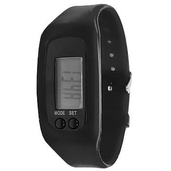 ➤Часы Lesko LED SKL Black спортивный силиконовый ремешок экран 1 дюйм шагомер электронное время