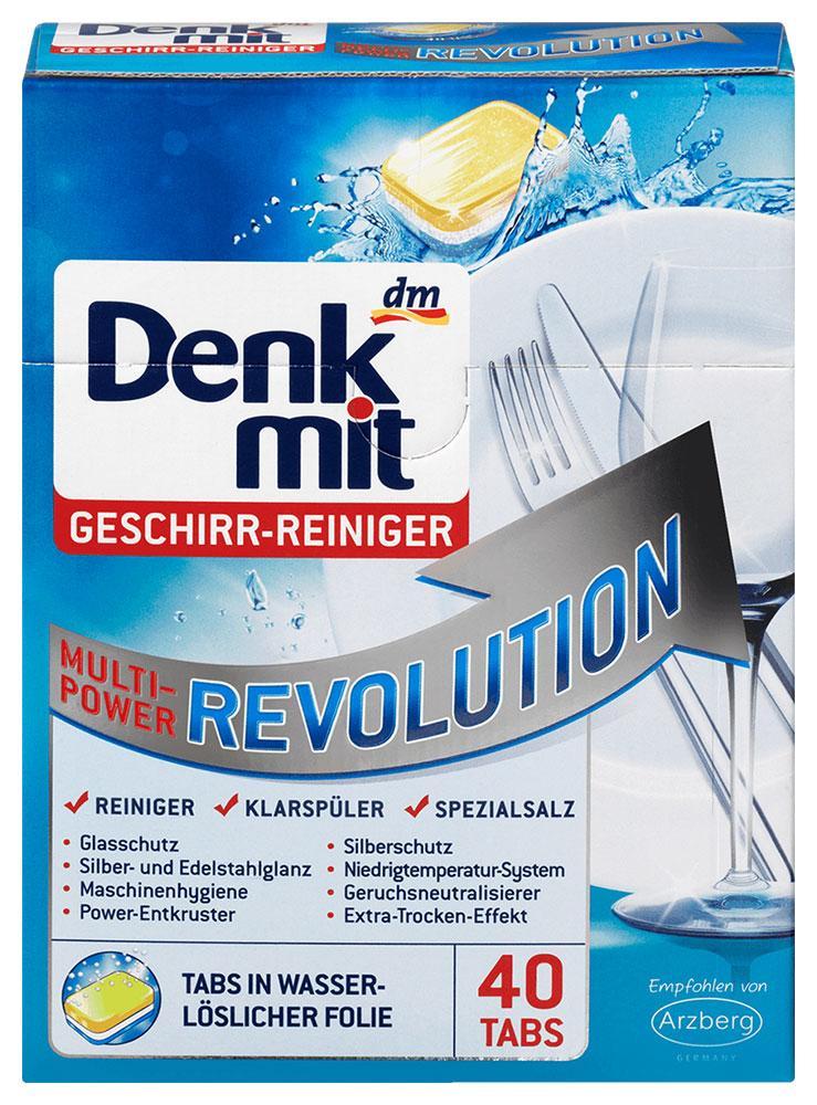 Таблетки для посудомоечных машин Denkmit Multipower Revolution 40шт