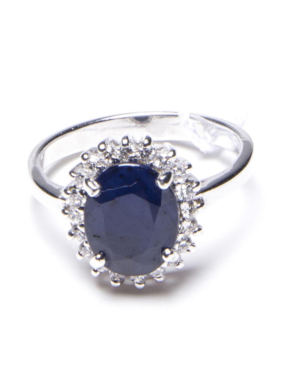 Кольцо серебряное с сапфиром