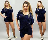Женский спортивный костюм летний футболка и шорты