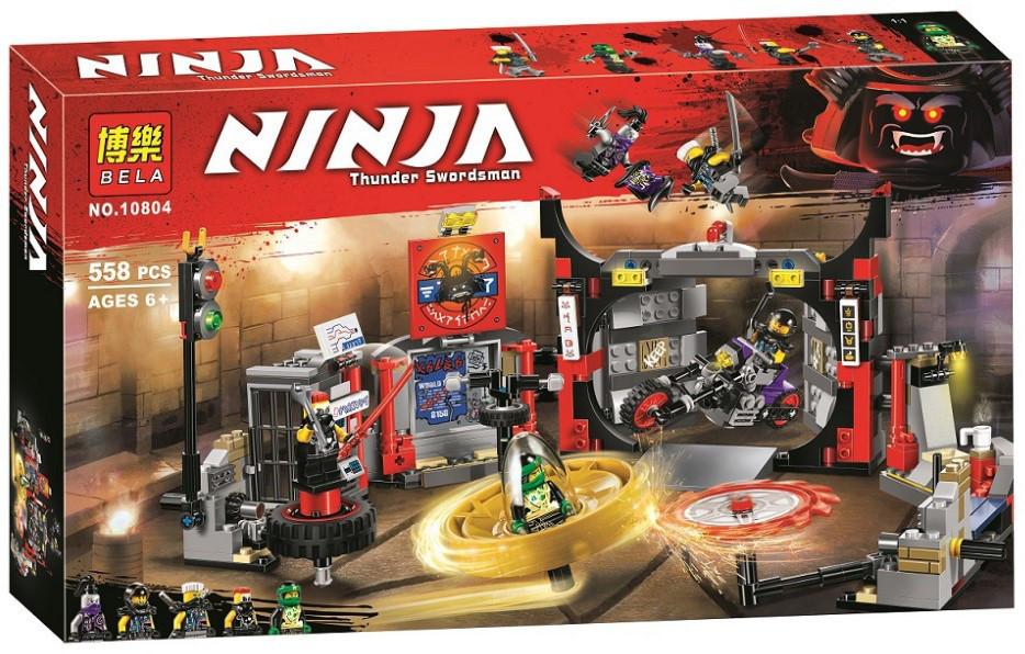 """Конструктор Ninja Bela 10804 (аналог Lego Ninjago 70640) """"Штаб-квартира Сыновей"""", 558 деталей"""