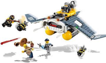 "Конструктор Ninjago Movie Lepin 06055 (аналог Lego 70609) ""Бомбардировщик Морской дьявол"" 364 детали, фото 2"