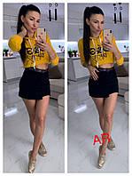 Короткая женская толстовка в стиле D&G AR