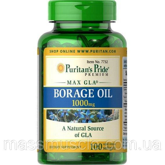 Витамины Puritan's Pride Borage Oil 1000mg MAX GIA 100 Softgels