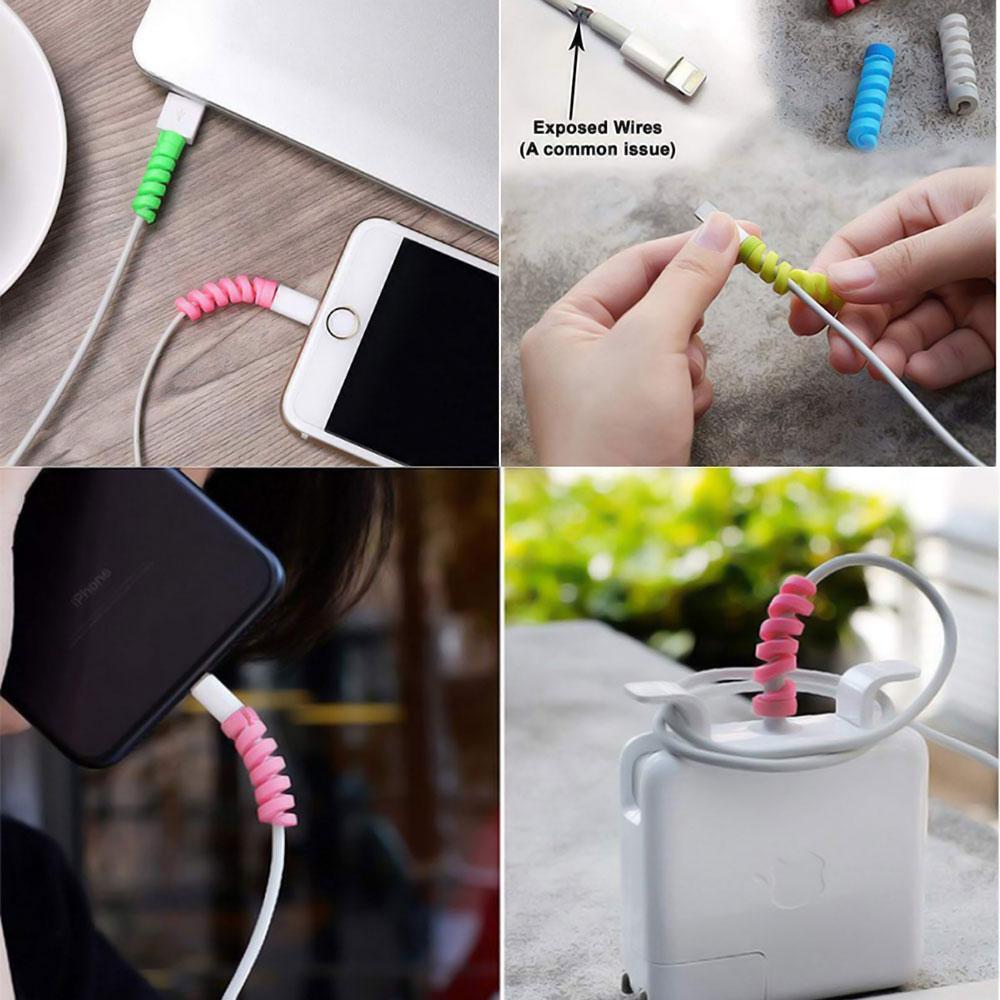 Протектор кабеля - защита от перелома (комплект из 4 шт)