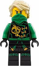 Конструктор Bela Ninja 10526 (аналог Lego Ninjago 70593) Зелёный энерджи дракон Ллойда 603 детали, фото 3
