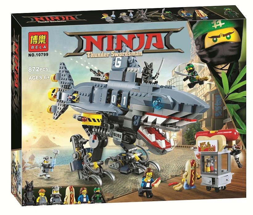 Конструктор Ninjago Movie Bela 10799 (аналог Lego 70656) Морской дьявол Гармадона 872 детали