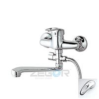 Смеситель ZEGOR ванная  длинный NHK6-C048 (LOP С043)
