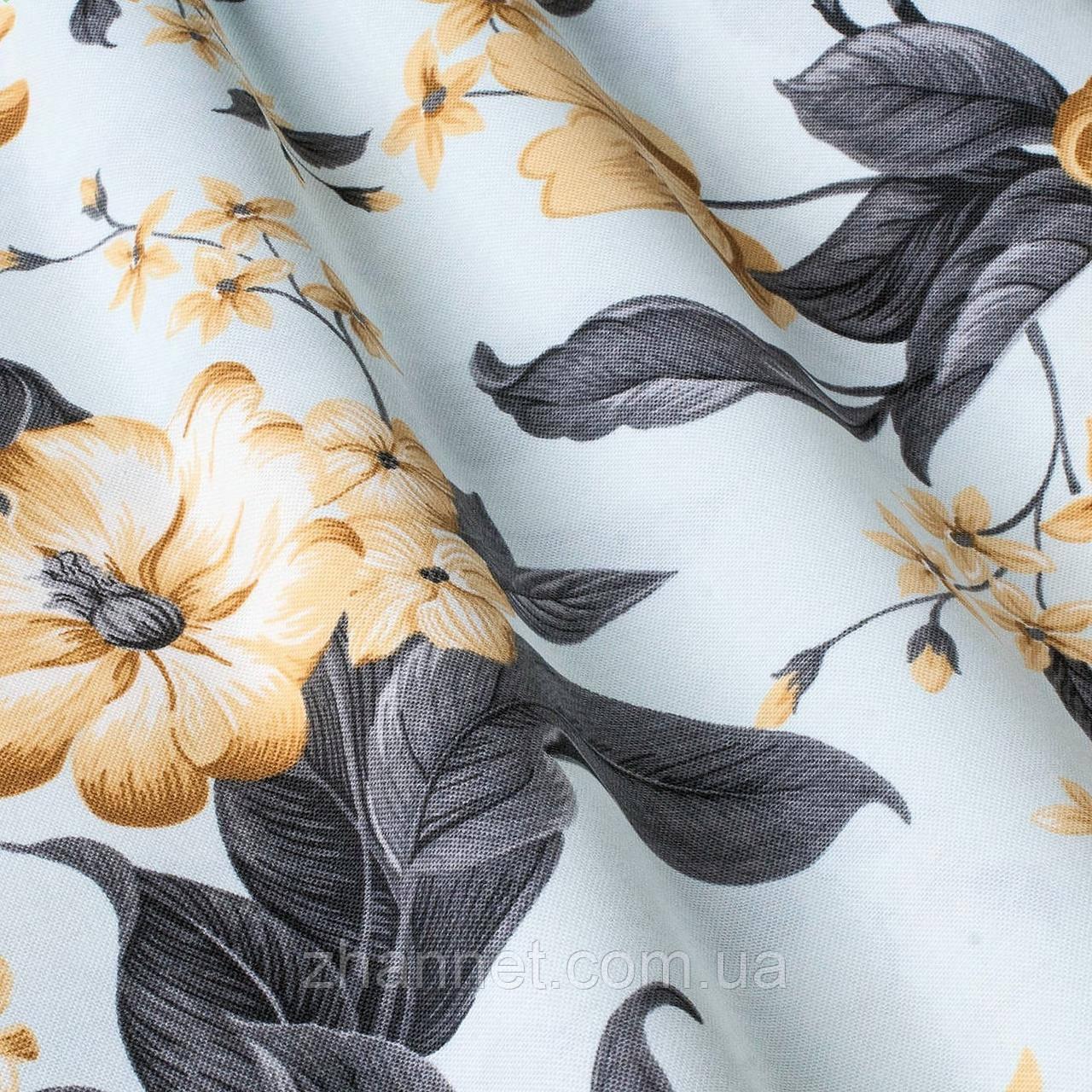 Ткань для штор Gloria Цветы мандариновый 180 см (0814545)