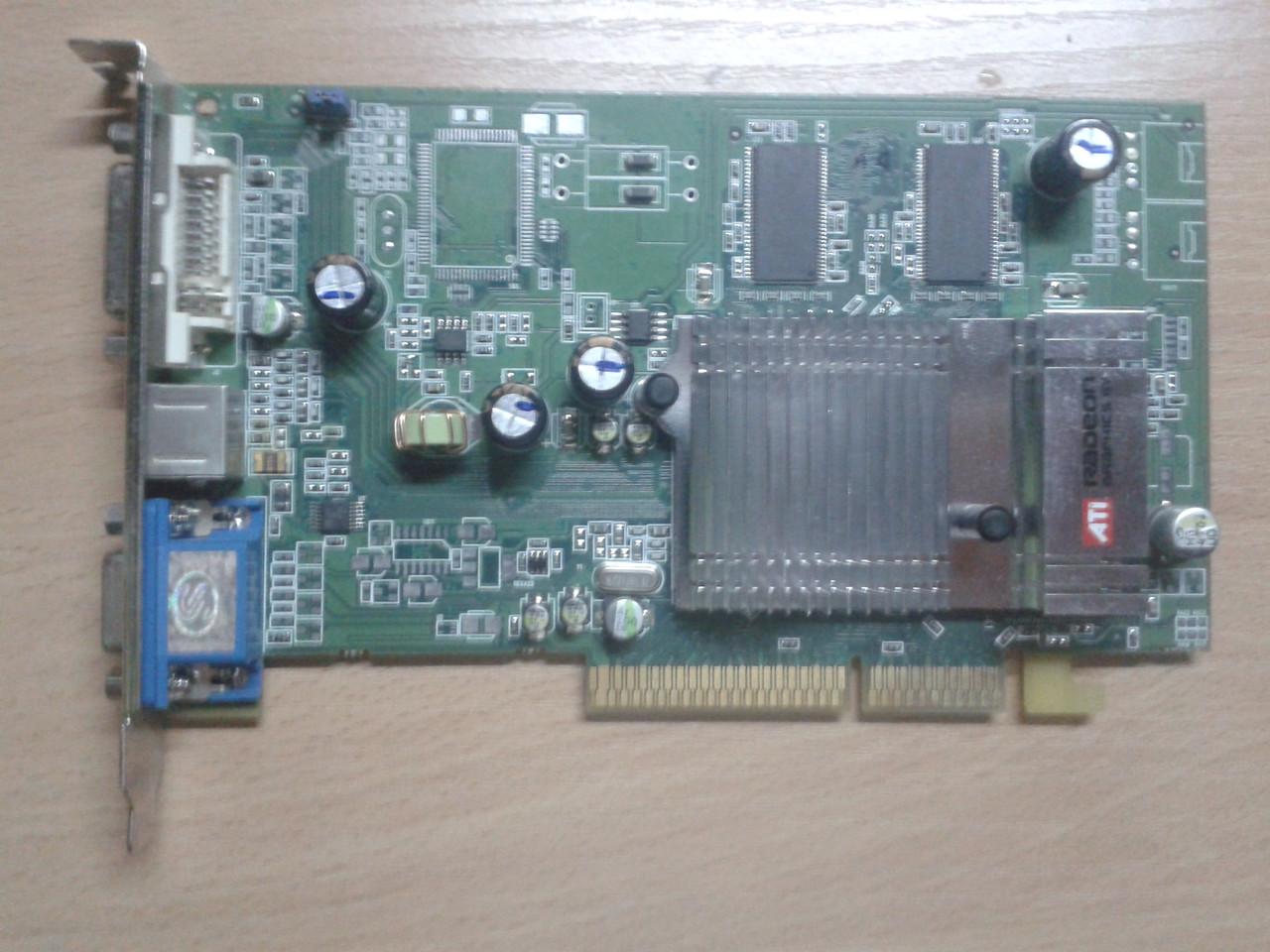 Видеокарта Sapphire ATI Radeon 9600, 128Mb/DDR/64Bit, 9600 128Mb V/D/VO, AGP, бу