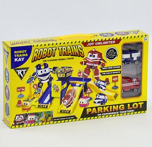 """Гараж ZY 643 """"Robot Trains"""" (2 машины)"""