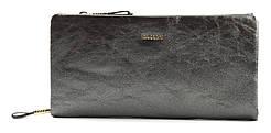 Очень стильный и блестящий кошелечек на две молнии SARALYN art. J-8996 Серый