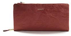 Очень стильный и блестящий кошелечек на две молнии SARALYN art. J-8996 Красный