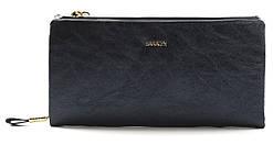 Очень стильный и блестящий кошелечек на две молнии SARALYN art. J-8996 Синий