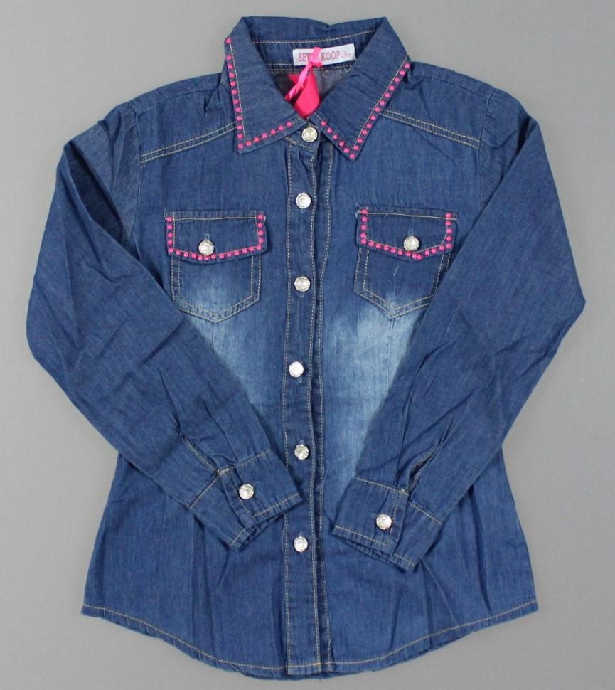 Джинсовая рубашка для девочек Setty Koop оптом, 8-16 лет. {есть:8 лет}