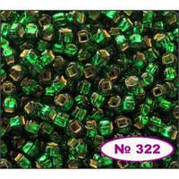 Чешский бисер Preciosa 322-57060, зеленый ,  блестящий