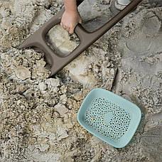 """Лопатка """"SСOPPI"""" с ситом для песка и снега (цвет серый + голубой) QUUT , фото 2"""