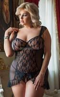 Пеньюар Bianca Plus Size черный XXL, фото 1