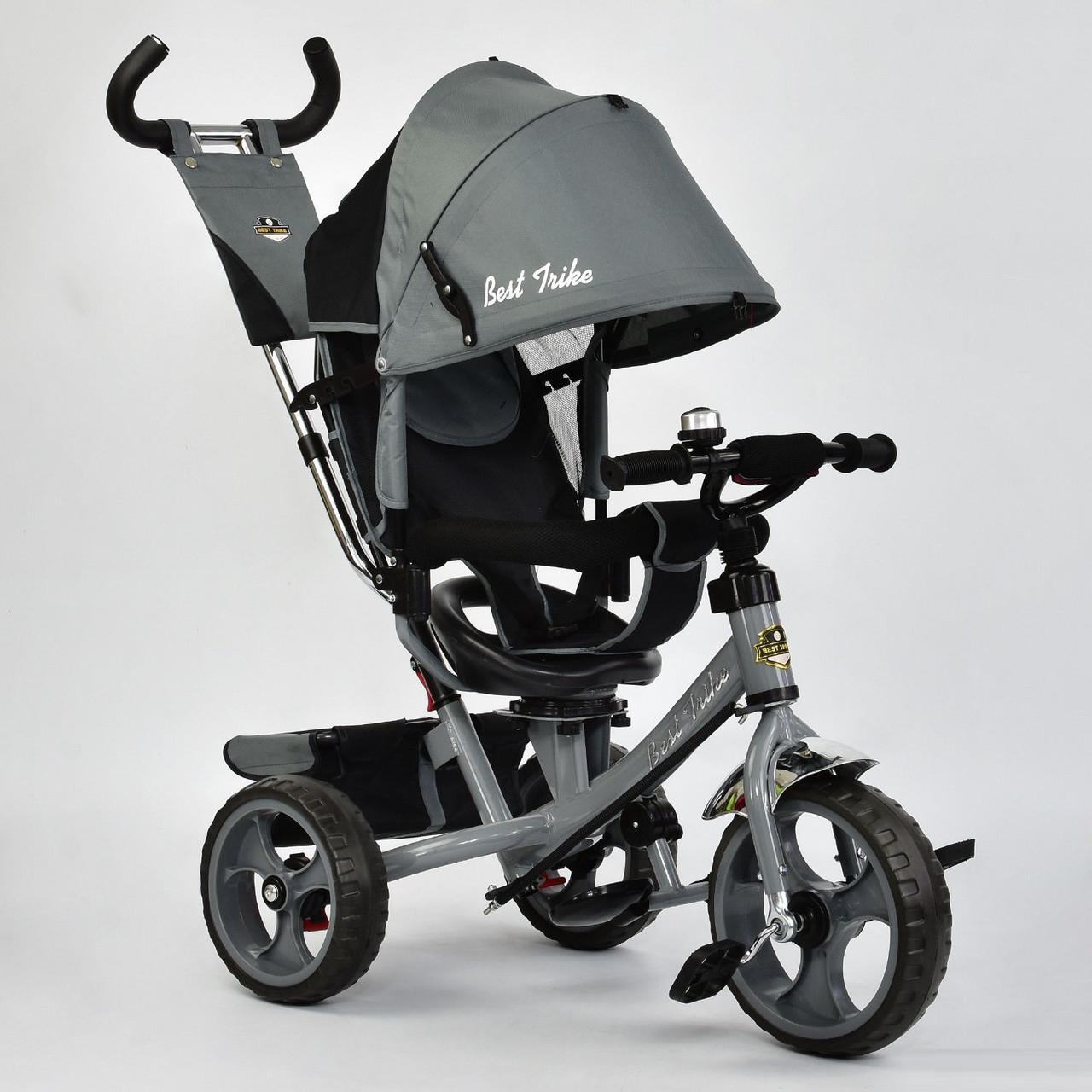 Велосипед трехколесный с поворотным сиденьем Best Trike 5700 – 3430 (темно-серый) колеса пена