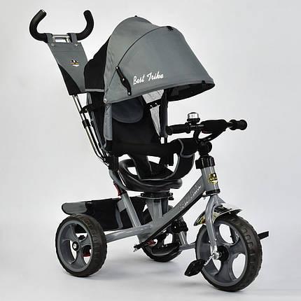 Велосипед трехколесный с поворотным сиденьем Best Trike 5700 – 3430 (темно-серый) колеса пена, фото 2